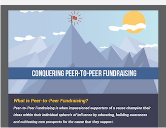 Conquer Peer to Peer Fundraising with Salsa's infographic.