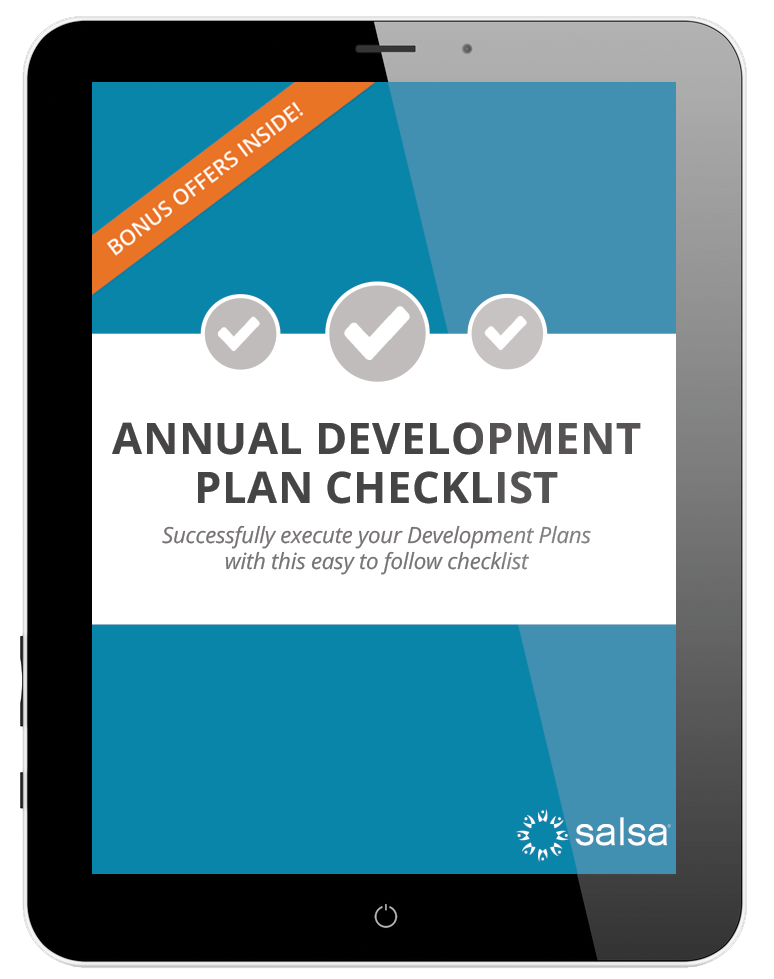 Take a look at Salsa's downloadable annual development plan checklist.