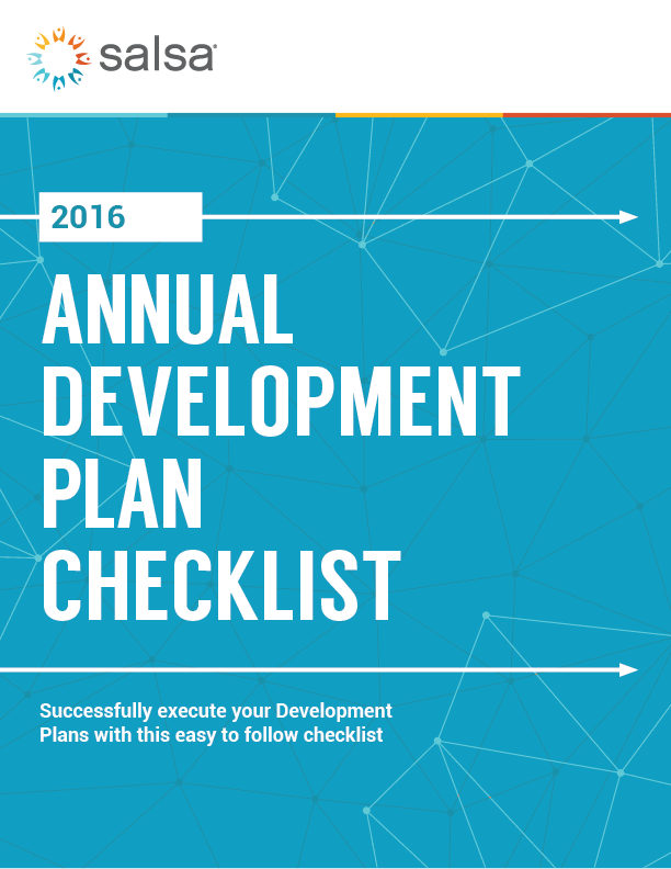 Annual Development Plan Checklist Cover Image