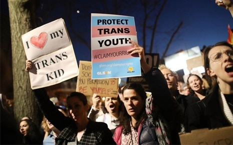 TITLE IX Protest PFLAG
