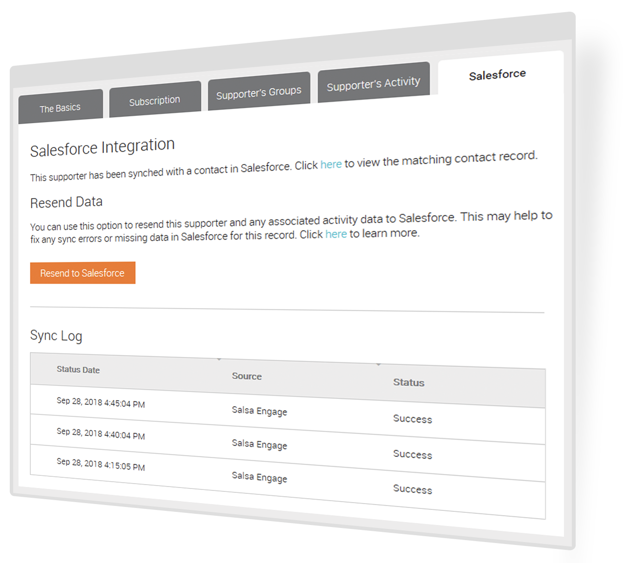 Salsa Engage for Salesforce