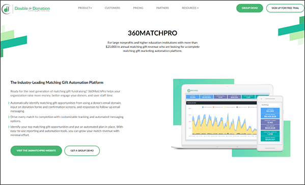 360MatchPro is a top Salesforce integration for your nonprofits matching gift fundraising efforts.