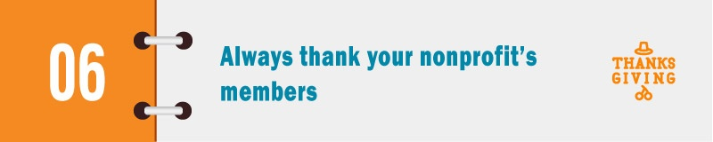 Membership management isn't complete without thanks!