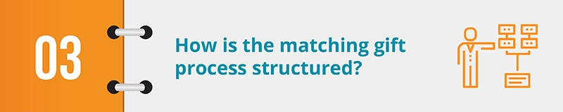 How is the matching gift process structured?