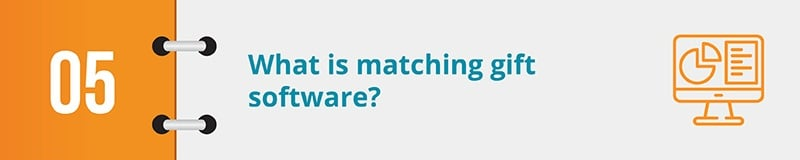 What is matching gift software?