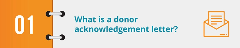 What is a donor acknowledgement letter?