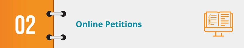 Make sure everyone can participate in your grassroots advocacy with online petitions.