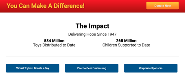 Guide to Nonprofit Websites - Impact - Toys for Tots