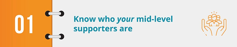 Know who your mid-level supporters are.