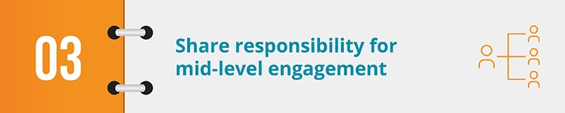 Share responsibility for mid-level engagement.