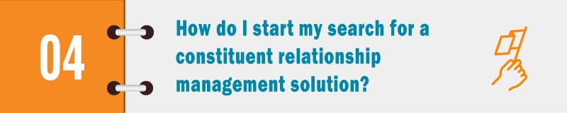 How do I start my search for a constituent relationship management solution?