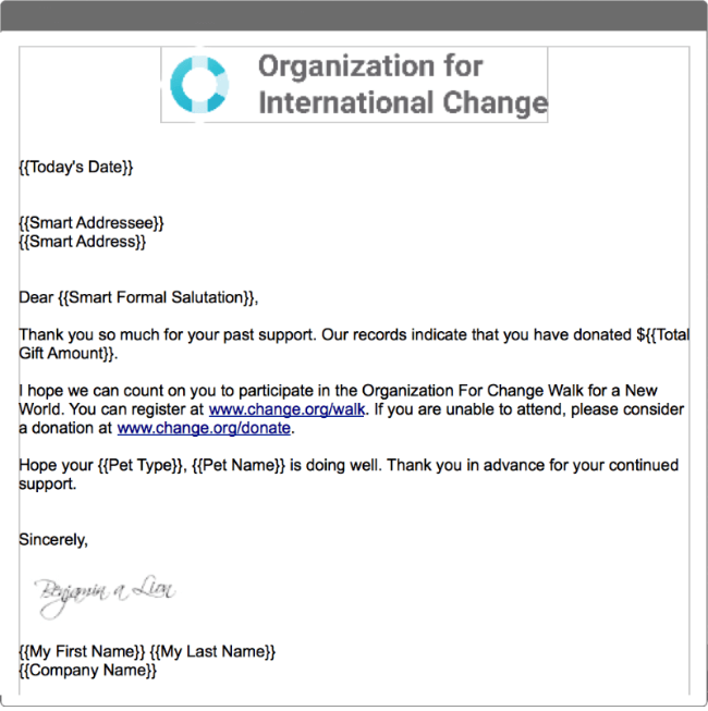 You can use traditional methods like mailed letters for donor acquisition.