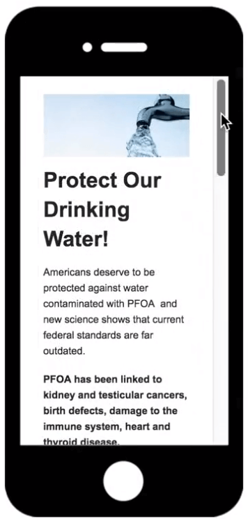 Make sure your grassroots advocacy campaign features mobile-optimized online petitions.