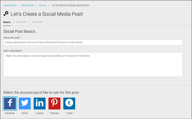 Create social media posts for your campaign with your grassroots advocacy software.