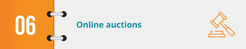 Host an online auction for your next online fundraising idea.