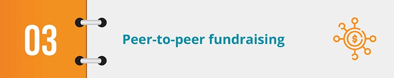 Peer-to-peer fundraising is a great online fundraising idea.