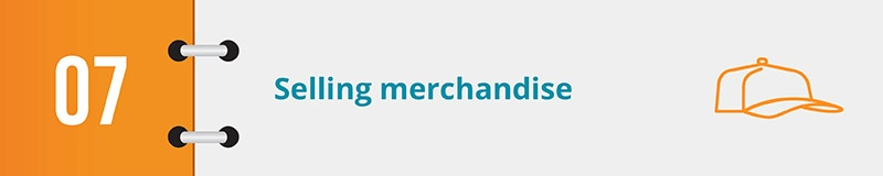 Sell merchandise as your next online fundraising idea.