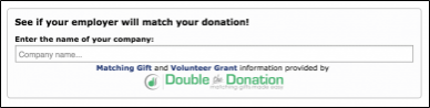 Check out Double the Donation's online fundraising tool.