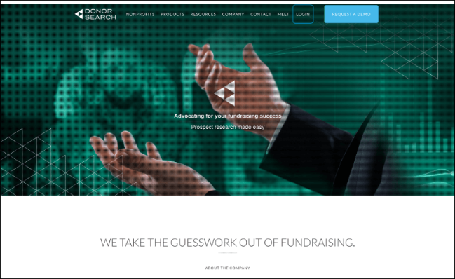 Check out DonorSearch's online fundraising tools.