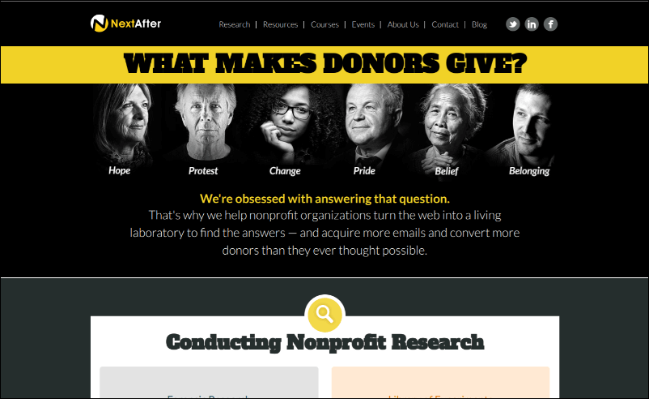 Take a look at NextAfter's online fundraising tool and see how it can help your nonprofit.