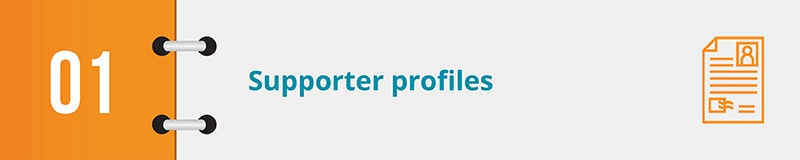 In this section, we review a top nonprofit CRM feature: supporter profiles.