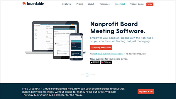 Check out Boardable's website to learn more about their nonprofit software for board management.