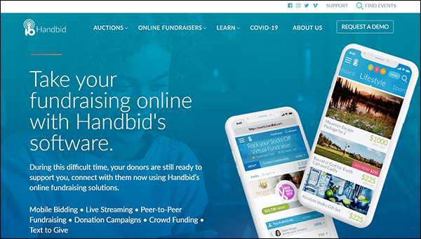 Explore Handbid's intuitive nonprofit software for online auctions.