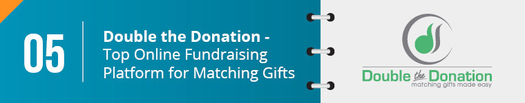Double the Donation is the top online fundraising platform for matching gifts and increasing impact.
