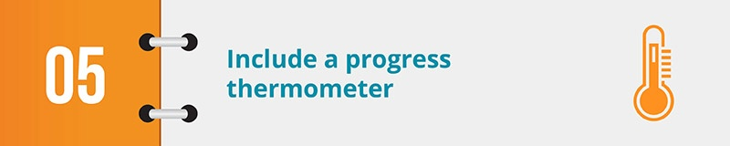 Include a progress thermometer in your electronic petition.