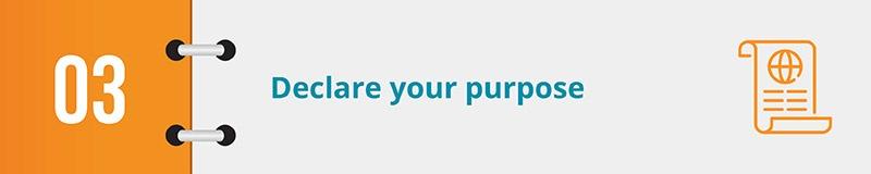 Declare your online petition form's purpose.