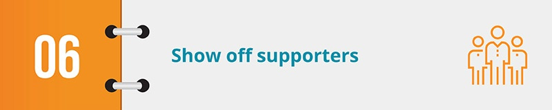 Show off your online petition's supporters.