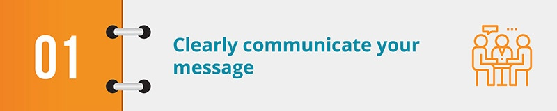 Clearly communicate your message and presence in your online petition form.