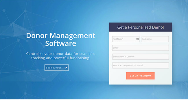 The best online fundraising platform for donor management is Salsa CRM.