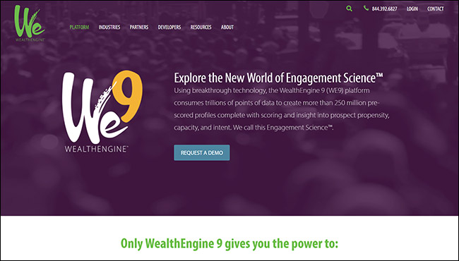 The best online fundraising platform for wealth screening is WealthEngine