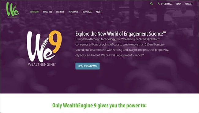 The best online fundraising platform for wealth screening is WealthEngine