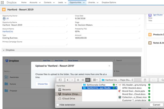 Salesforce Apps for Nonprofits - Dropbox