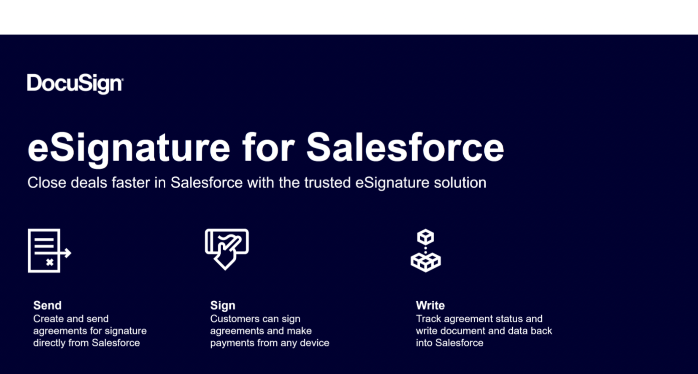 Salesforce Apps for Nonprofits - Image - DocuSign