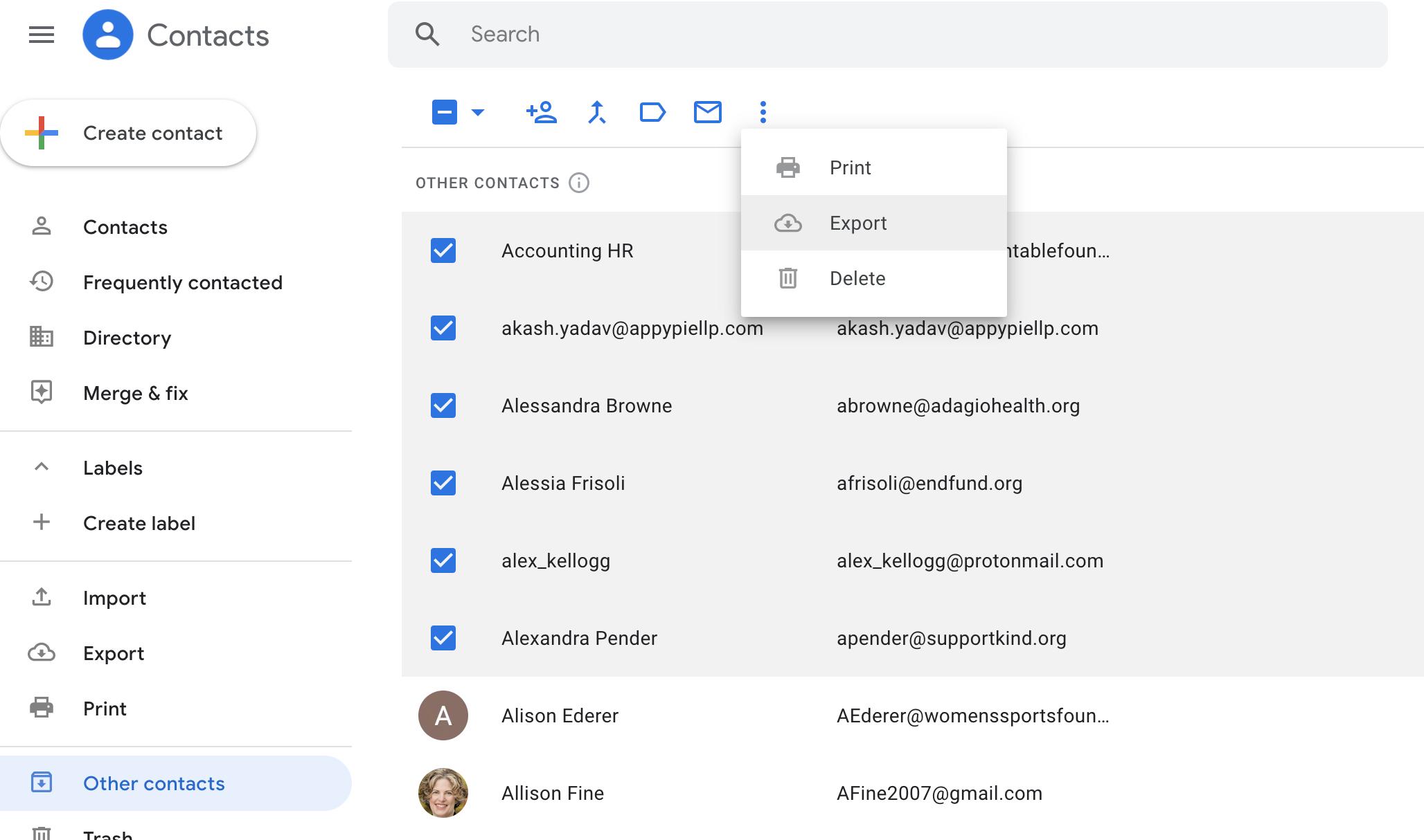 Salsa Labs - 13 Nonprofit Email List Building Techniques - Google Contacts