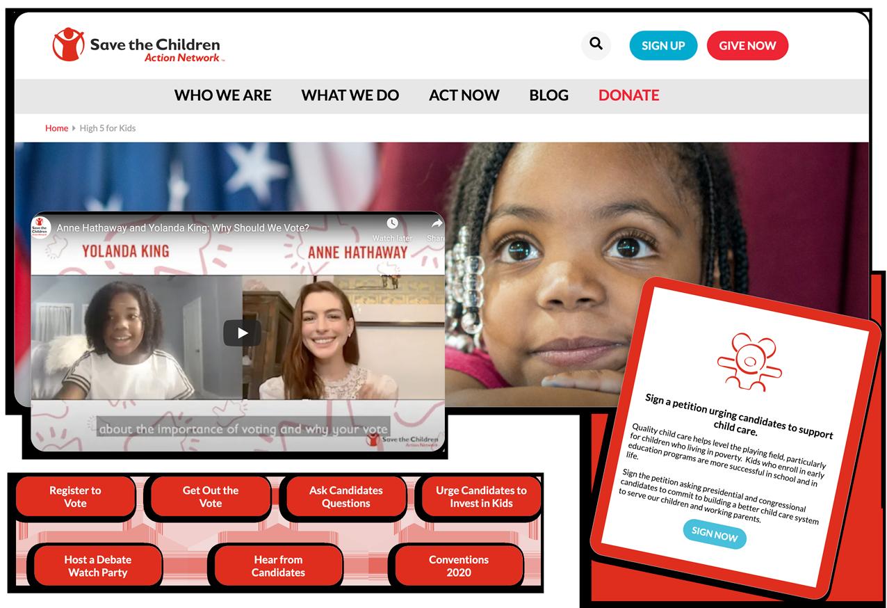 advocacy campaigns - 01 - web page
