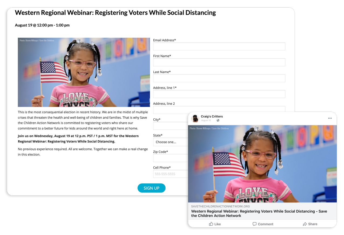 advocacy campaigns - 02 - webinar registration