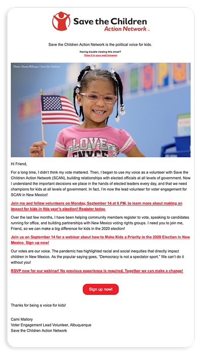 advocacy campaigns - 03 - email