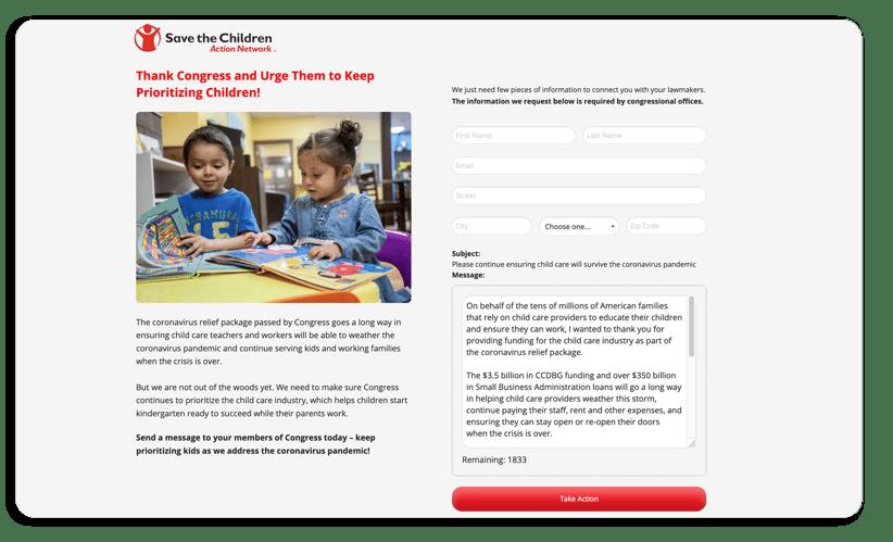 advocacy campaigns - 04 - advocacy form