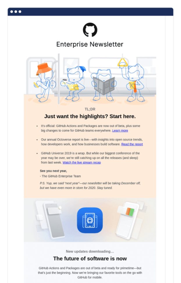 Optimize your emails with summaries and eye-catching graphics.
