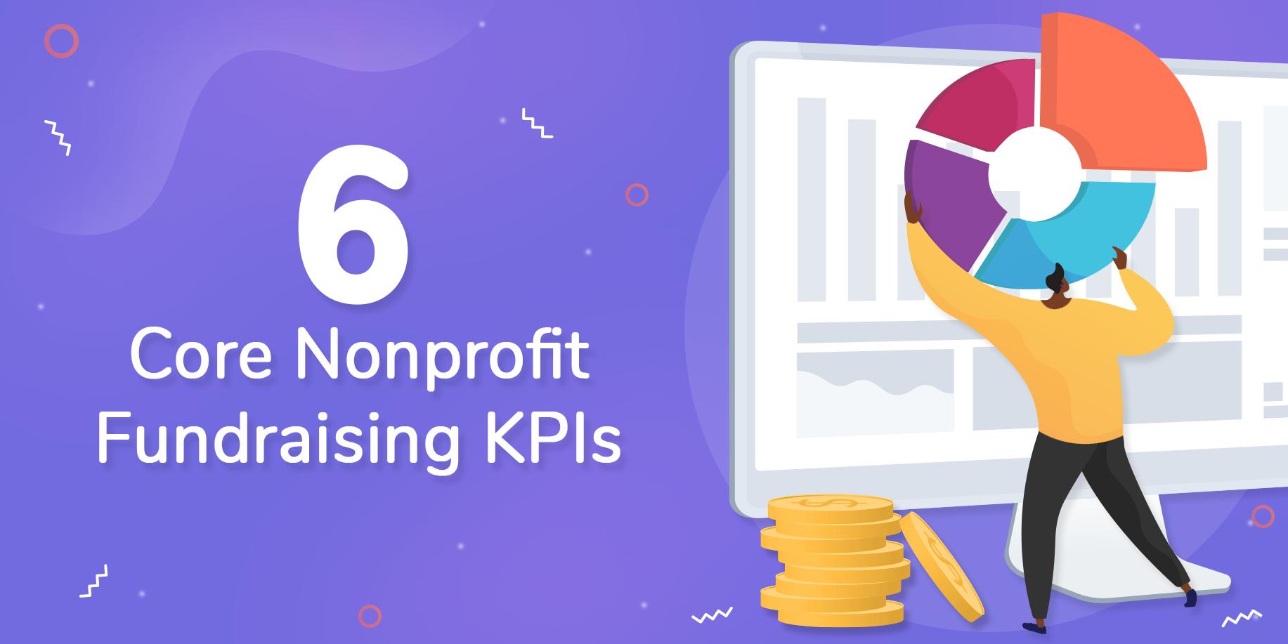 6 Core Nonprofit Fundraising KPIs header image