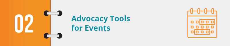 Some advocacy software is best used for events. Here are our top choices.