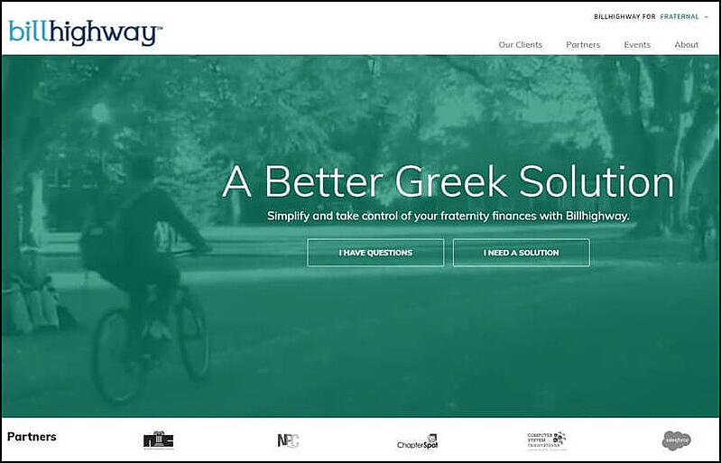 Billhighway can be a strong payment partner for your fraternity chapter.