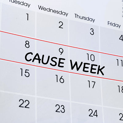 Pair your cause week with a series of fundraising events.