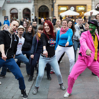 Hold a flash mob as your next fundraising idea.