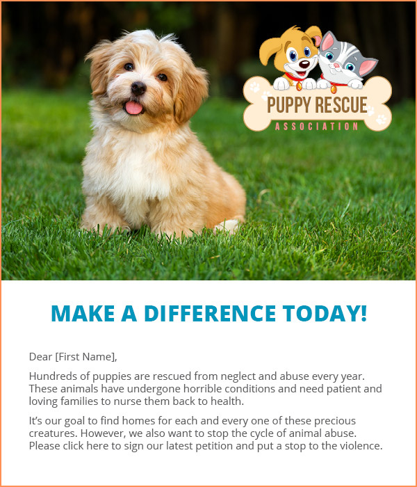 Personalize and customize emails for your organization's grassroots nonprofit marketing campaign.