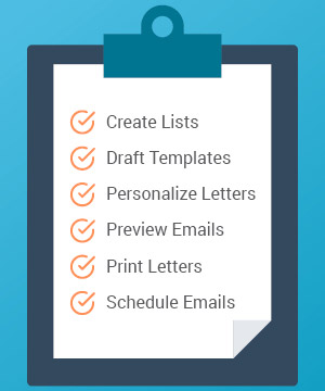 Marketing automation for nonprofits helps you plan ahead by creating lists, drafting templates, personalizing letters, previewing emails, printing letters, and scheduling emails.